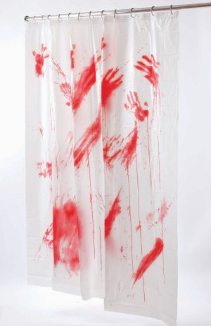 4 v res zuhanyf gg ny for Psycho shower curtain and bath mat