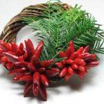 Chilis karácsonyi koszorú