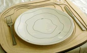 Ebédlőasztal, mint topográfiai térkép