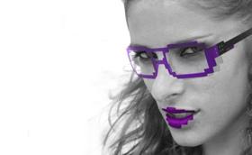 Pixeles szemüveg retro csillagjeggyel