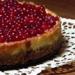 Születésnapomra: ribizlis cheesecake