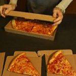 Pizzadoboz leleményes perforációval