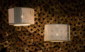 Design lámpa kidobott mosógépből