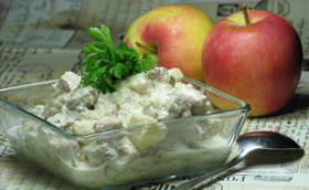 Őszi-téli örökzöld: köményes-almás hús