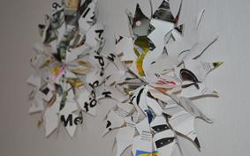 Környezettudatos karácsony: reciklált, papír hópehely