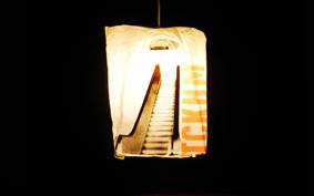 Újraértelmezett háztartási hulladék: zacskós lámpa