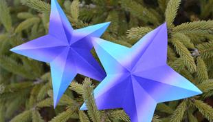 Karácsony: Így kell 3D-s csillagot hajtogatni!