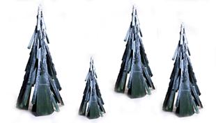 Karácsony 2011: A szobrász környezettudatos fenyőfája