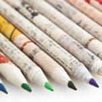 Újságpapírból sodort ceruzák - Mentsd meg a Földet!