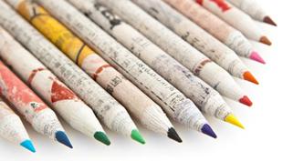 Újságpapírból sodort ceruzák – Mentsd meg a Földet!