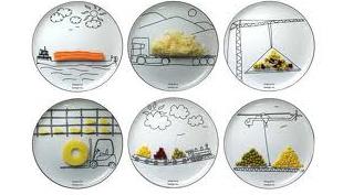 Ételszállítmányozás – tányérra rajzolt járművek