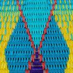 Kortárs szőnyegek műanyag ruhacsipeszekből