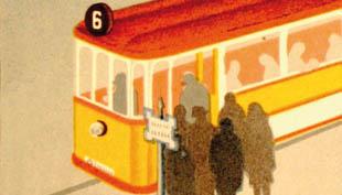 Tömegközlekedési plakátok – Légy óvatos kispajtás!