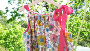 Könnyű, nyári lányka ruha szabásmintával