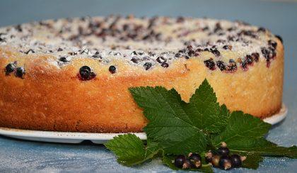 Feketeribizlis-kefíres torta (tojás nélkül készül)
