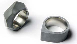 Divat a beton – beton gyűrű, fülbevaló és táska