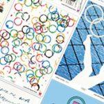 Kávéfoltos olimpiai karikák és olimpiai torta színekből