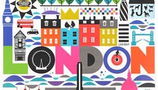 London piknik takarón, táskán és zuhanyfüggönyön
