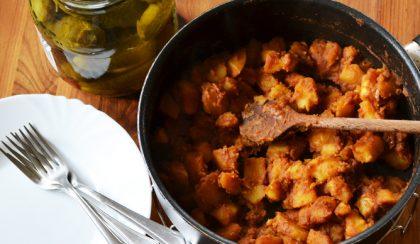 Indiai-magyar konyha: fűszeres paprikás krumpli