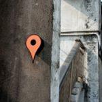 Google Map helymeghatározó jel, mint madáretető