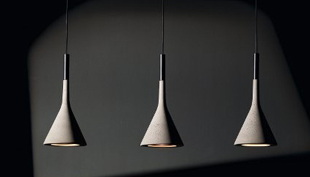 Most és mindörökké: minimalista lámpa betonból