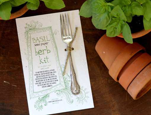 Basil_herb_kit_plantable_seed_paper_garden_marker2