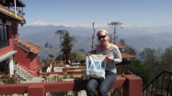 Nepál, háttérben a Himalája (Fotó: Edit, 2013)