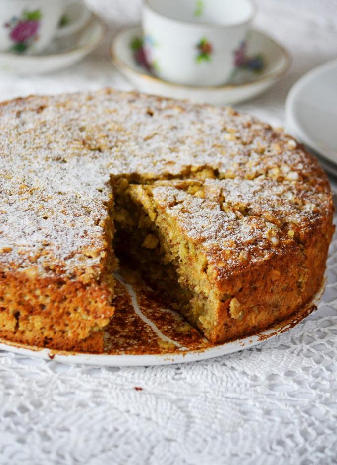 Banános-zabpelyhes-gyömbéres tortasüti (Fotó: Myreille)