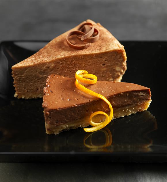 Csokoládés-narancsos sajttorta
