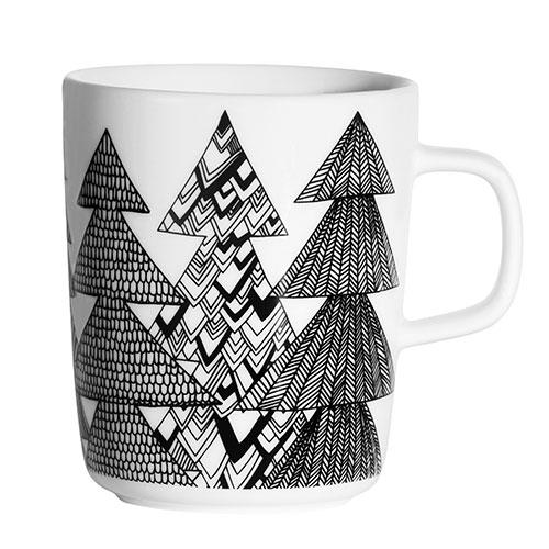 marimekko-kuusikossa-black-white-mug