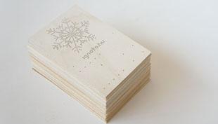 Karácsony: Fúróval rajzolt karácsonyi képeslapok