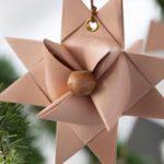 Karácsony: skandináv papír és fa karácsonyfadíszek