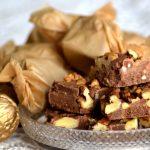 Szaloncukor helyett: pörkölt diós-rumos csokikocka