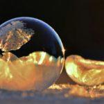 -9 °C, Washington: Megfagyott szappanbuborékok