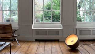 """A szoborszerű padlólámpa: Ovalit, a """"világító kő"""""""