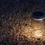 Éjszakára elrakott fény - befőttes üveg lámpa