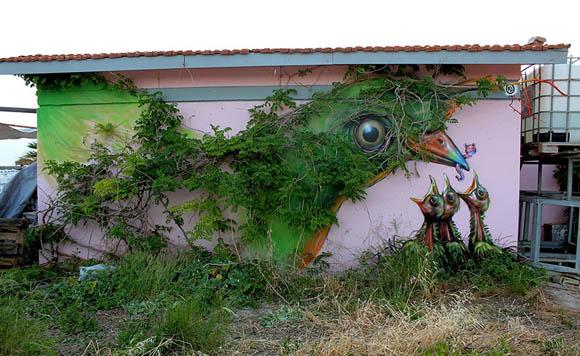 A madár - WD street art/Athén, Görögország