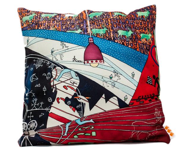 Somogyi Réka festményből készült párna