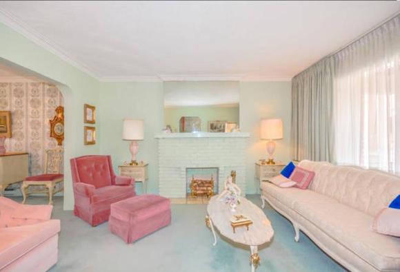 Menta és rózsaszín a nappaliban