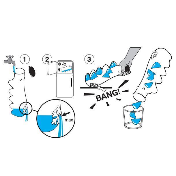 Így működik a Brrrrr jégkockakészítő/Design: black + blum