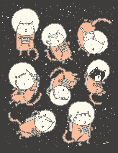 Drew Brockington: Cat-Stronauts