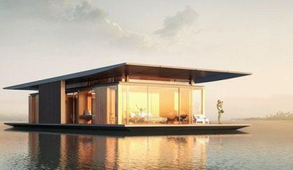 Otthon a tengeren: 128 m2-es lebegő ház