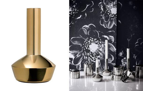 Gyertyatartók és tárolók fémes csillgással/Design és fotó: H&M Home