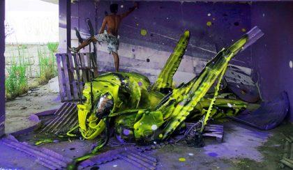 Street Art: hulladékból gigantikus városi állatok