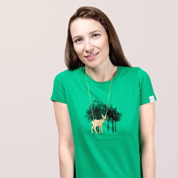 Bambi az erdőben - bár a bozontos mellkas nőknél ijesztő asszociáció/Design: Luft und Liebe