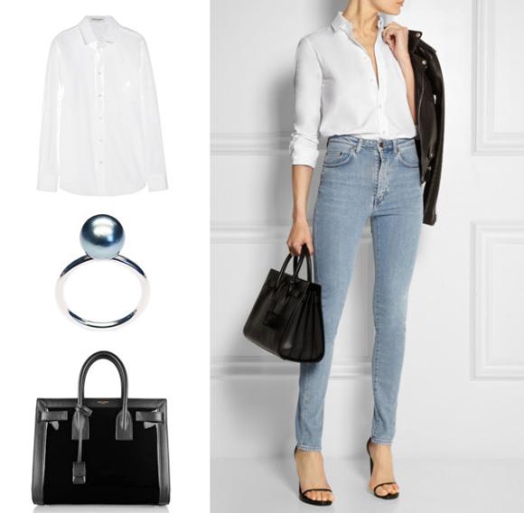 Yves Saint Laurent ing és táska, LIKO gyűrű