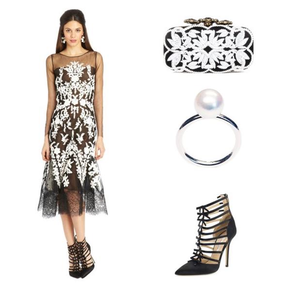 Oscar de la Renta ruha, táska és cipő valamint LIKO gyűrű