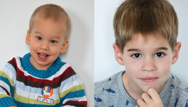 Dani 2 éves, Zsombi 6 éves (Fotó: Myreille)