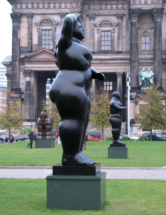 Az elsőt mindig megjegyzi az ember és én 2007-ben Berlinben találkoztam először Botero szobraival (Fotó: Myreille)