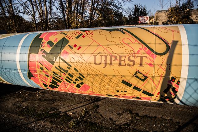 Térképrészlet a színes távhővezetéken (fotó: Farkas András)